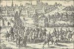 hertog van Alva leidt Margaretha van Parma uit Brussel
