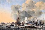 Het kalefateren van schepen bij het Bothuisje op het IJ