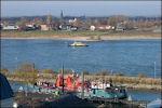 Gezicht op Lent vanaf Nijmegen