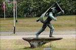 Verzetsmonument de Vaandeldrager ook wel Jan van Hoof-monument genoemd