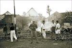 Smeulende puinhopen in Nederlands-Indië