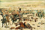 Jan Hoynck van Papendrecht: Hollandse infanterie bij de brug over de Berezina in 1812