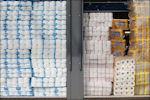 Toiletpapier in etalage Lidl