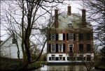Achterzijde kasteel Oudegein in Nieuwegein
