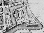 Wageningen in 1654 kaart van Geelkercken