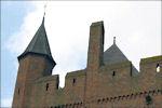 Kantelen op de donjon van de Doornenburg