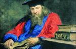 Portret van Mendelejev