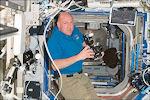 Kuipers in het ruimtestation ISS