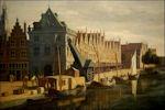 De Waag in Haarlem door Gerrit Berckheyde