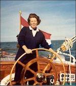 Prinses Beatrix aan het roer