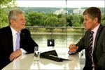 Bondspresident Joachim Gauck tijdens het Zomergesprek