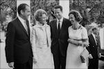Fabiola en Boudewijn ontmoeten Richard en Pat Nixon