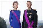 Statieportret van Koning Filip en koningin Mathilde