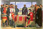 Jan zonder Land ondertekend de Magna Carta