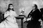 De jongste en de oudste koningin van Europa in 1895