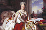 Koningin Victoria in haar kroningsgewaad