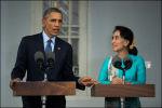 Obama en Aung San Suu Kyi