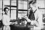 Lise Meitner en Otto Hahn