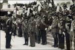 Victor Emanuel en Mussolini